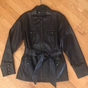 Fab Faux Leather Jacket in Rich Brown